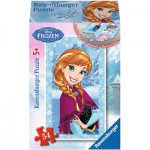 Ravensburger-73055-09455-07 Minipuzzle: Frozen - Die Eiskönigin