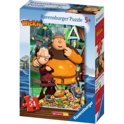 Puzzle Ravensburger-73296-09467-03 Wickie und seine Freunde