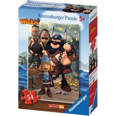 Puzzle Ravensburger-73296-09467-05 Wickie und seine Freunde