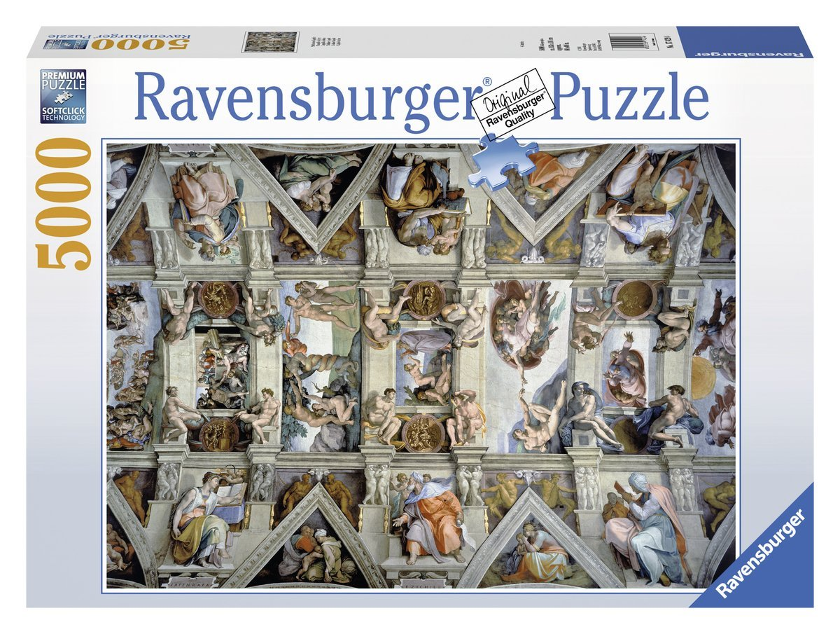 sixtinische kapelle 5000 teile ravensburger puzzle online kaufen. Black Bedroom Furniture Sets. Home Design Ideas