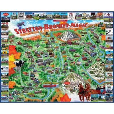 Puzzle White-Mountain-1020 Manchester und die Berge