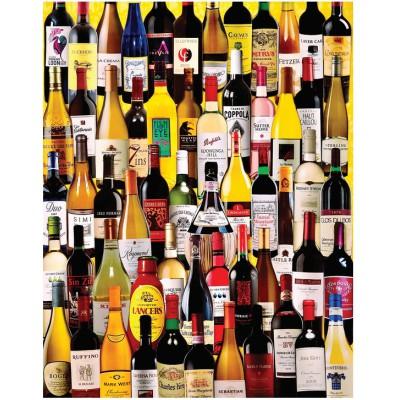 Puzzle White-Mountain-1058 Weinflaschen