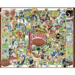 Puzzle  White-Mountain-359 Geschichte des Football