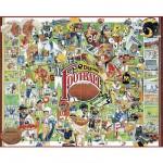 Puzzle  White-Mountain-359 Geschichte des Football