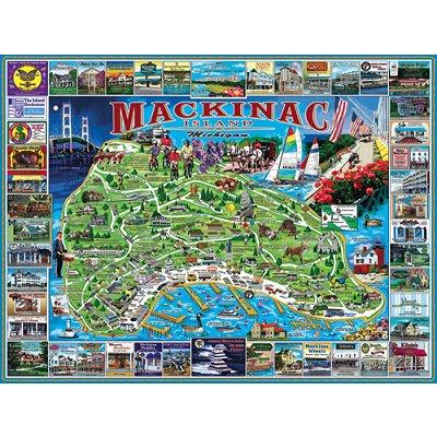 Puzzle White-Mountain-468 Mackinac Insel