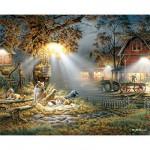 Puzzle  White-Mountain-516 Nachtarbeit auf dem Lande
