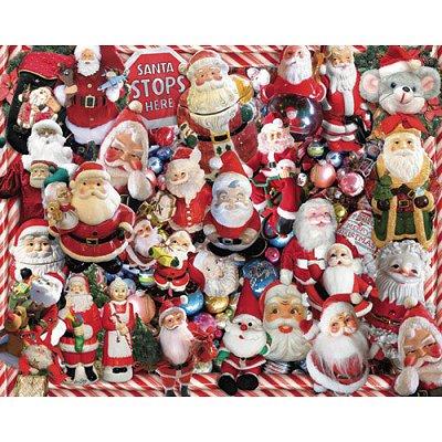 Puzzle White-Mountain-541 Weihnachtsmänner
