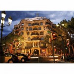 Puzzle  DToys-50328-AB32 Spanien - Barcelona, Casa Mila