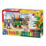 Puzzle  Dtoys-50380-PC-05 Pinocchio + 2 Bilder zum Buntmalen