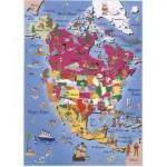 Puzzle  Dtoys-50663-MP-03 Landkarte Nordamerika
