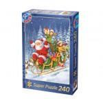 Dtoys-50670-XM-06 Weihnachtspuzzle - Der Weihnachtsmann mit seinem Schlitten