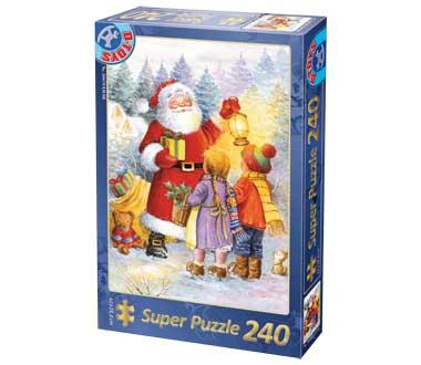 Dtoys-50670-XM-08 Weihnachtspuzzle - Mit dem Weihnachtsmann im Garten