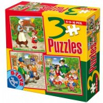 Puzzle  Dtoys-50922-BS-07 Märchen und Legenden: Pinocchio, Schneewittchen und die 7 Zwerge, Rotkäppchen