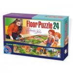 Dtoys-60037-FP-04 Riesen Bodenpuzzle - Hänsel und Gretel