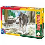Puzzle  Dtoys-60198-AN-03 XXL Teile - Wölfe