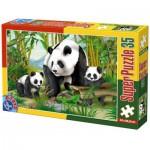 Puzzle  Dtoys-60198-AN-04 XXL Teile - Pandas
