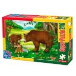 Puzzle  Dtoys-60211-AN-03 Wilde Tiere: Bärenfamilie