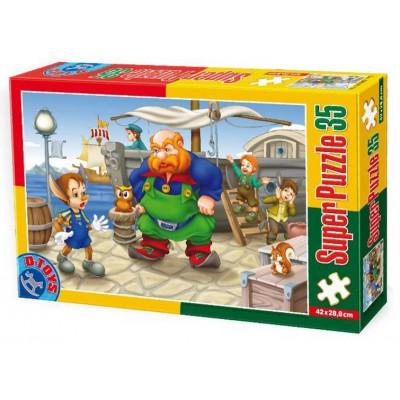 Puzzle Dtoys-60389-PV-01 XXL Teile - Pinocchio