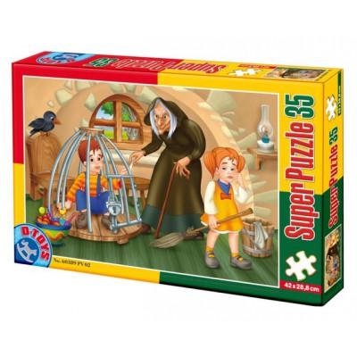 Puzzle Dtoys-60389-PV-02 XXL Teile - Hänsel und Gretel