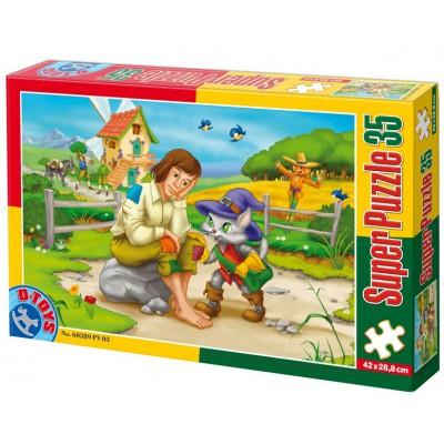 Puzzle Dtoys-60389-PV-03 XXL Teile - Der gestiefelte Kater