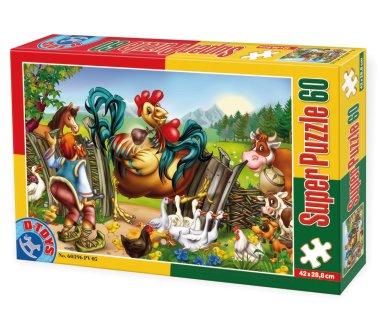 Puzzle Dtoys-60396-PV-05 XXL Teile - Das Huhn mit den goldenen Eiern
