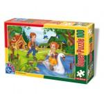 Puzzle  Dtoys-60402-PV-04 XXL Teile - Hänsel und Gretel