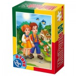 Dtoys-60471-PV-03 Mini Puzzle: Hänsel und Gretel