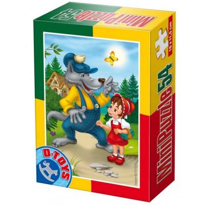 Dtoys-60471-PV-04 Mini Puzzle: Rotkäppchen
