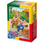 Dtoys-60471-PV-06 Mini Puzzle: Die 3 kleinen Schweinchen