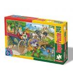 Puzzle  Dtoys-60488-PV-03 XXL Teile - Der gestiefelte Kater