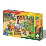 Puzzle  Dtoys-60488-PV-04 XXL Teile - Schneewittchen und die  Zwerge