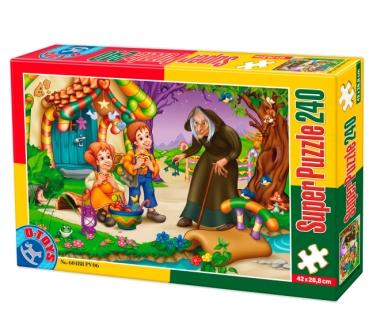 Puzzle Dtoys-60488-PV-06 XXL Teile - Hänsel und Gretel
