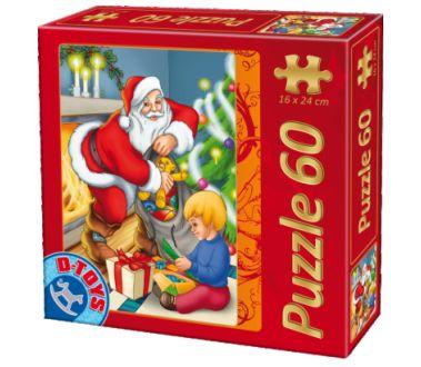 Puzzle Dtoys-60709-XM-02 Der Weihnachtsmann beschenkt die Kinder