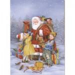 Puzzle  Dtoys-60709-XM-08 Der Weihnachtsmann und die Kinder