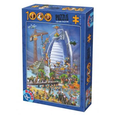 Puzzle Dtoys-61218-CC12 Cartoon Collection - Burj Al Arab
