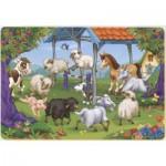 Puzzle  Dtoys-61393-AN-03 Tiere vom Bauernhof in einer Runde