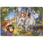 Puzzle  Dtoys-61393-AN-04 Das Fest der Tiere aus dem Dschungel