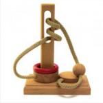 Dtoys-61447-04 Chinesisches Holzpuzzle - IQ Games - Basic 4 - Schwierigkeit 3/5