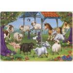 Puzzle  Dtoys-61454-AN-04 Tiere vom Bauernhof in einer Runde