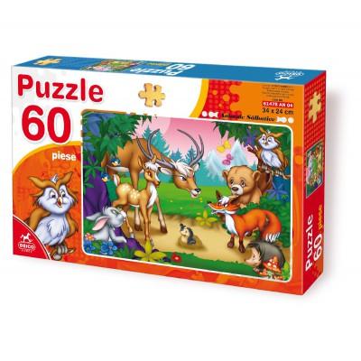 Puzzle Dtoys-61478-AN-04 Die Tiere aus dem Wald