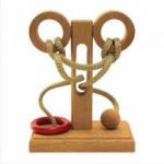 Dtoys-61508-07 Chinesisches Holzpuzzle - IQ Games - Basic 7 - Schwierigkeit 3/5