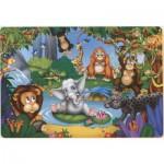 Puzzle  Dtoys-61515-AN-04 Der kleine Elefant und andere Tiere aus dem Dschungel