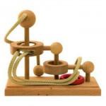 Dtoys-61553-01 Chinesisches Holzpuzzle - IQ Games - Maxi 1 - Schwierigkeit 3/5