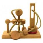 Dtoys-61560-02 Chinesisches Holzpuzzle - IQ Games - Maxi 2 - Schwierigkeit 3/5