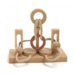 Dtoys-61607-05 Chinesisches Holzpuzzle - IQ Games - Maxi 5 - Schwierigkeit 2/5