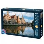 Puzzle  DToys-62154-EC05 Belgien: Gent