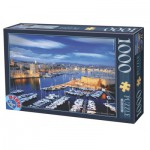 Puzzle  Dtoys-62154-EC16 Hafen von Marseille