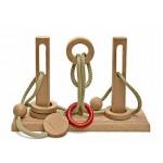 Dtoys-62352-01 Chinesisches Holzpuzzle - IQ Games - Expert 1 - Schwierigkeit 5/5