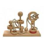 Dtoys-62383-04 Chinesisches Holzpuzzle - IQ Games - Expert 4 - Schwierigkeit 5/5
