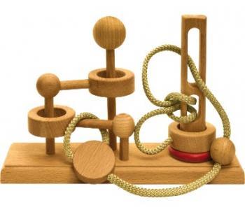 Dtoys-62390-05 Chinesisches Holzpuzzle - IQ Games - Expert 5 - Schwierigkeit 4/5